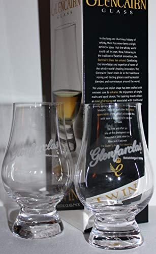 GLENFARCLAS TWIN PACK GLENCAIRN SCOTCH MALT WHISKY TASTING GLASSES