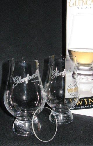 GLENFARCLAS TWIN PACK GLENCAIRN SCOTCH MALT WHISKY TASTING GLASSES WITH TWO WATCH GLASS COVERS