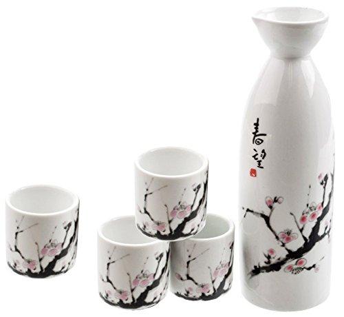 Happy Sales HSSS-SBC00  Cherry Blossom Japanese Sake Set