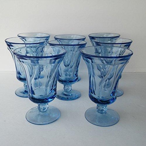 Vintage Fostoria Glass Blue Jamestown 5 78 Footed ICE TEA WATER GOBLET