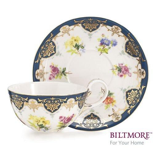 Vanderbilt Porcelain Teacup and Saucer Set From Biltmore House Collection