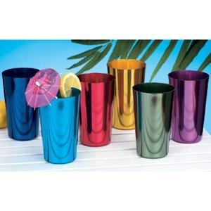 ALUMINUM TUMBLERS Retro Jewel Aluminum Colored Tumblers Cups Set of 6 Multicolor