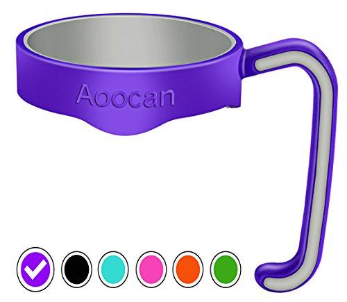 Aoocan Handle for Yeti Rambler 20 oz Tumblers Rtic Sic Cup Ozark Trail and more Tumbler mug Purple