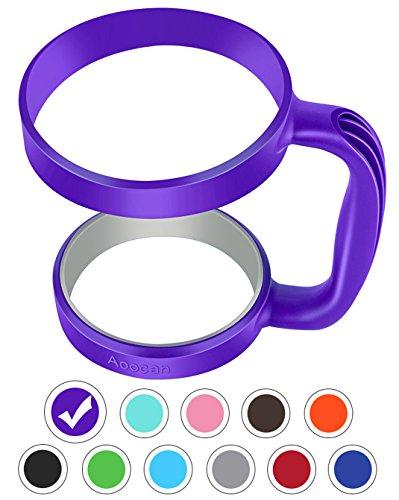 Aoocan Handle for Yeti Rambler 30 oz Tumblers Rtic Sic Cup Ozark Trail and more Tumbler mug purple