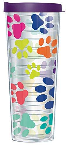 Paw Prints On Clear Wrap 30 Oz OMG Travel Tumbler Mug