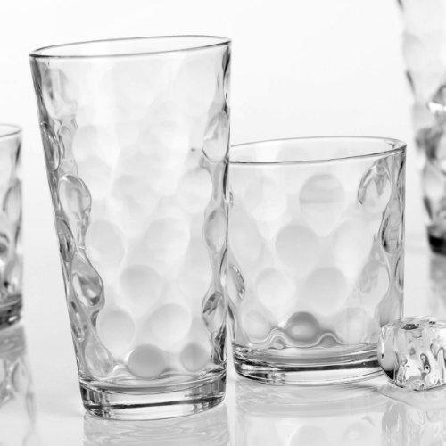 Home Essentials Galaxy Glassware Set Clear Set of 16 - 8 17 OZ 8 13 OZ  Clear