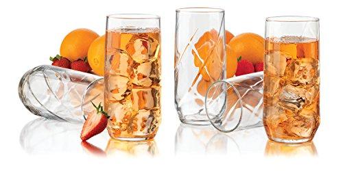 Libbey Diamond Swirl 12-Piece Glassware Set 16-Ounce Clear