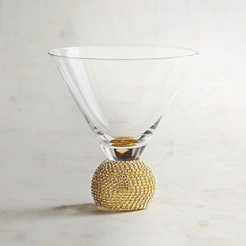 JEWEL GOLD STEMLESS MARTINI GLASS
