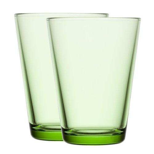 Iittala Kartio Apple Green Highball Tumbler 40cl set of 2