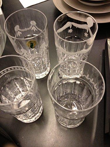 Waterford Gwestland tall highballs  tumblers set 4 crystal