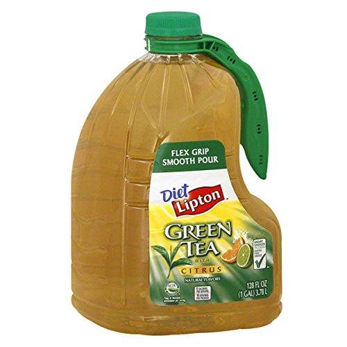 LIPTON GREEN ICED TEA WITH CITRUS DIET 1 GAL JUG 128 oz