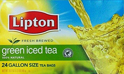 Lipton 100 Natural Green Iced Tea Gallon Size Tea Bags 24 Count 192 Oz