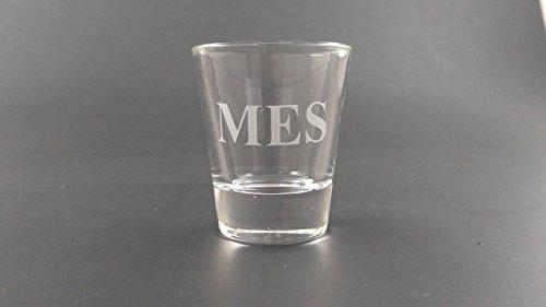 Etched Shot Glass - Custom Monogram