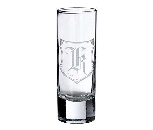 Lillian Rose Personalized Monogram Initial Letter K Shot Glass