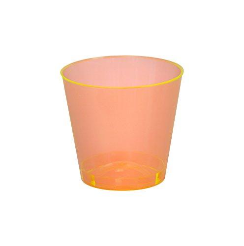 Fineline 2 oz Shot Glass Case of 2500 50 x 50 Orange