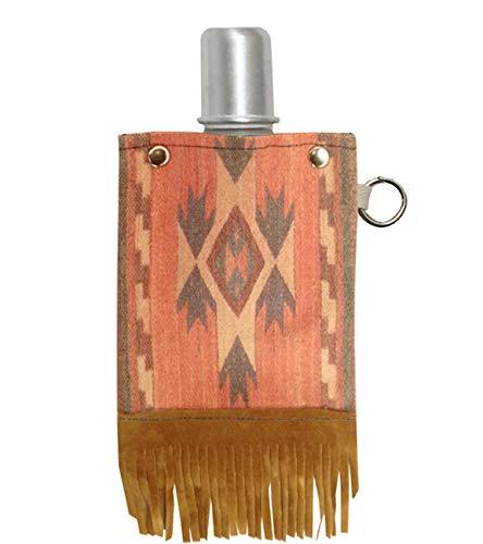 Capabunga 3409X ToteAble Canvas Flask and Shot Glass 4-Ounce Boho Fringe