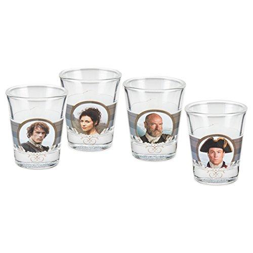 Vandor 81018 Outlander Shot Glasses 4 Piece Set Multicolored