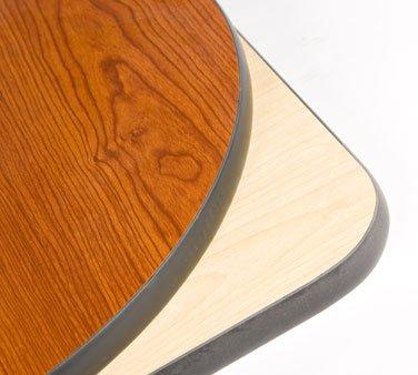 Oak Street Pedestal Table 24 x 24 reversible square top 1 thick black PC - CN2424-STD