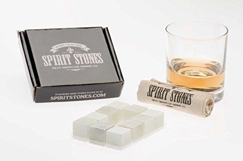 Spirit Stones Pure Soapstone Whiskey Ice Rock Stone Set of 10