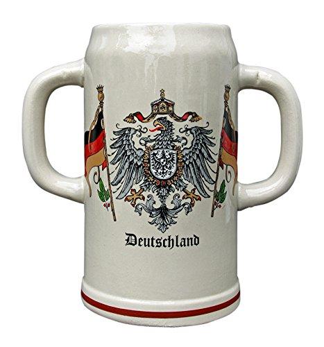 2 Liter Double Handle Deutschland German Mug Pass Mug