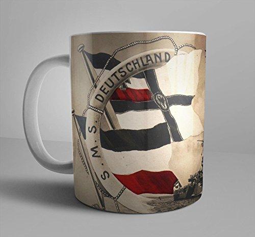 WW1 SMS Deutschland Battleship SMS Germany German Eagle Warflag WWI German Navy WWI 11 oz Coffee Mug