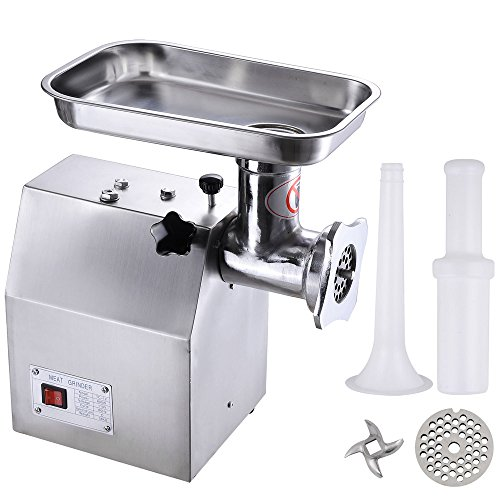 110v 600w #12 Commercial Electric Stainless Steel Meat Grinder 264lbs/h Sausage Restaurant