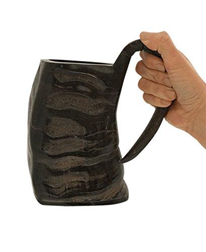 AleHorn - Water Buffalo Horn Drinking Mug Tankard - 100 Natural Horn