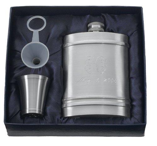 Visol Arlington Pewter Hip Flask Gift Set