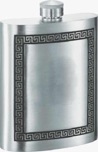 Visol VF4002 Kalos Greek Design Genuine Pewter Flask 8-Ounce