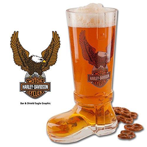 Harley-Davidson Bar Shield Glass Beer Boot