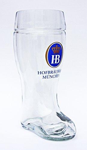 Hofbrauhaus Munchen Munich German Stolzle Glass Beer Boot 1 Liter