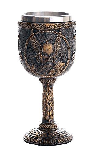 Norse Mythology Thor God of Thunder Wine Goblet Chalice Cup 7oz