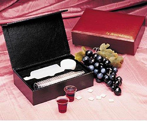 Portable Communion Set Burgundy - 24 Cups