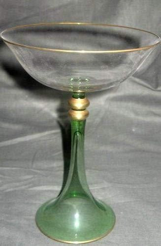 JL Coquet Jericho Green Champagne Saucer