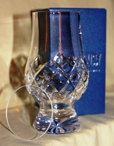 GLENCAIRN OFFICIAL GLENCAIRN CUT CRYSTAL SCOTCH MALT WHISKY TASTING GLASS WITH WATCH GLASS COVER