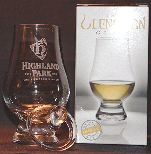HIGHLAND PARK LOGO GLENCAIRN SINGLE MALT SCOTCH WHISKY TASTING GLASS WITH GINGER JAR TOP