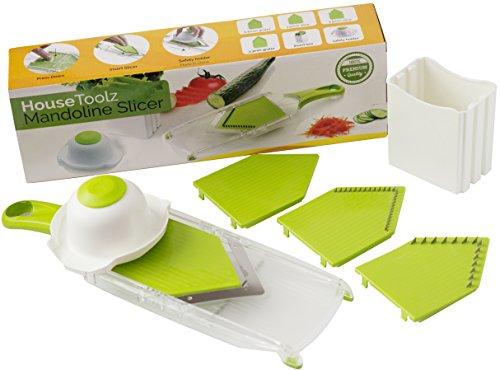 Htz - Mandoline Slicer For Vegetables - Onion Slicer And Dicer - Julienne Slicer - Kitchen Gadget With Stainless