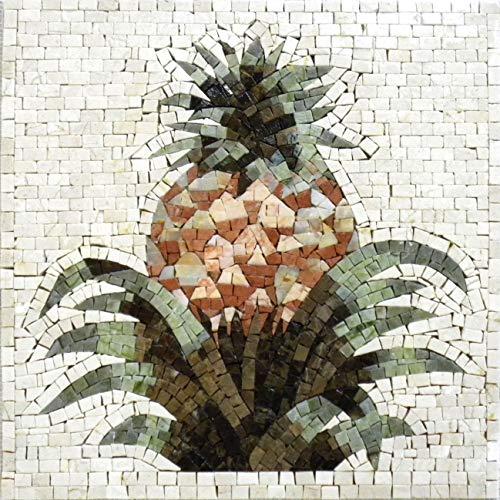 Mozaico Mosaic Kitchen Backsplash- Pineapple  Mosaic Designs  Mosaic Artwork  Mosaic Wall Art Floor Inlay Handmade Mosaics  24 x 24