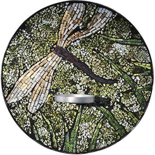 Springdale Mosaic Art Glass Candle Holder 1-Light Dragonfly