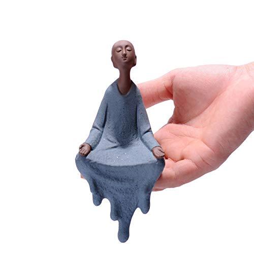 Ceramic Sculpture Desktop Arrangement Sculpture Lovely Shami Little Monk Buddha Statue Living Room Office Arrangements for Friends 1 Set