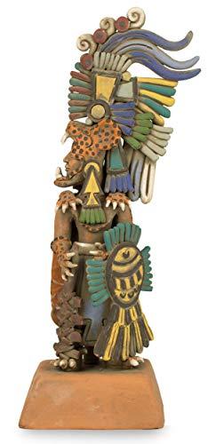 NOVICA 203971 Jaguar Warrior Ceramic Sculpture Medium