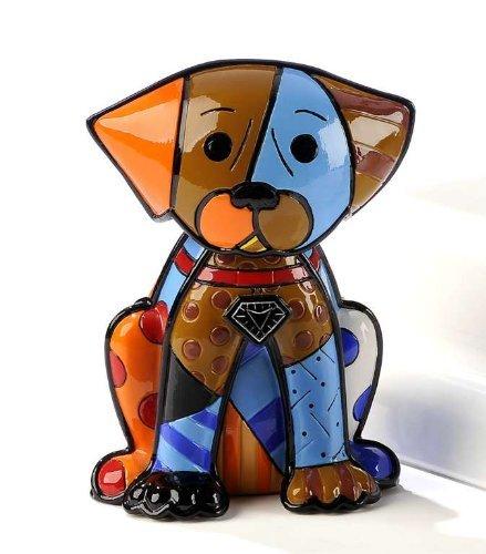 Romero Britto Boxer Dog Ceramic Sculpture Color Gift
