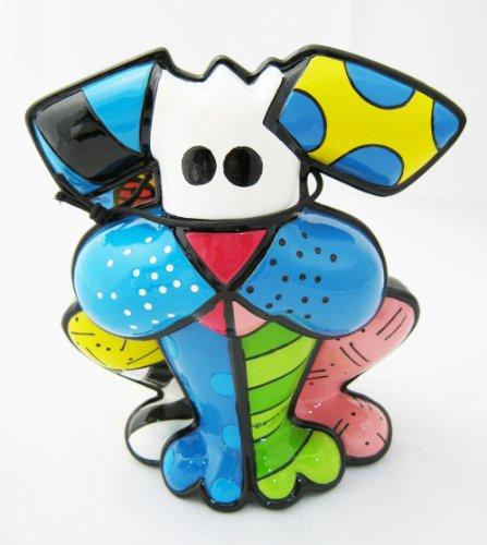 Romero Britto Terrier Dog Ceramic Sculpture Color Gift