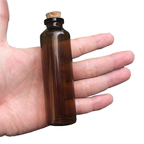 30x100x125mm 50ml Amber Glass Bottles with Cork Empty Tiny Jars Glass Corks Liquid Medicine Bottles Vials 12units 12 50ML