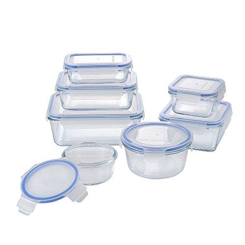 M2CBridge Glass Food Storage Set 14 Piece
