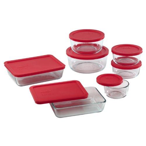 Pyrex 14-Piece Glass Food Storage Set with Lids