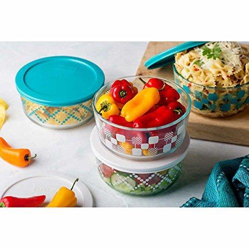 Pyrex 8-piece Decorative Glass Food Storage Set