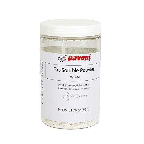 Pavoni Antonio Bachour Fat Soluble Powder Food Color 50 Grams White