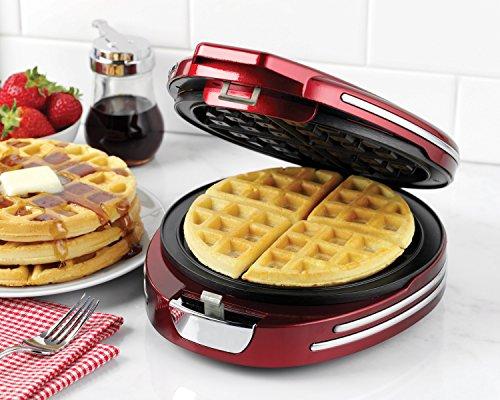 Nostalgia Rwm400rndred Retro Series Round Belgian Waffle Maker