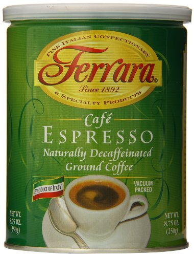 Ferrara Decaf Ground Coffee Cafe Espresso 875 Ounce